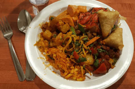 Plate of Buffet Food